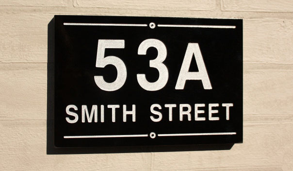 Engraved address signs